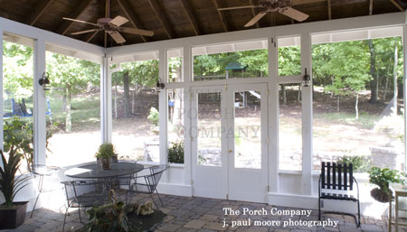 Custom Screen Porch with Ceiling Fans