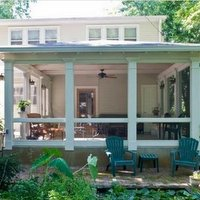 beautifully built porch by The Porch Company