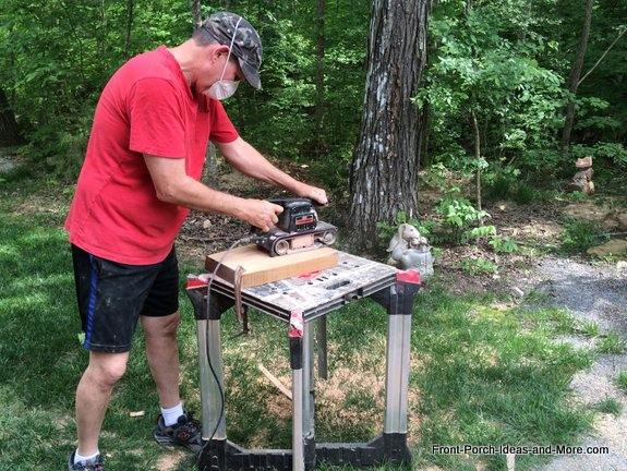 planing cherry for garden bench legs