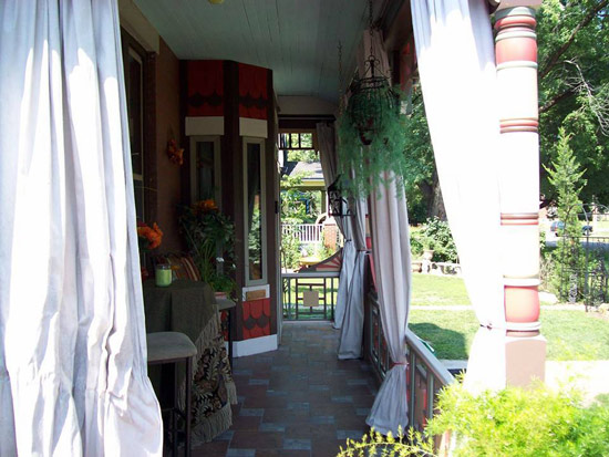Another view of this beautifully restored Queen Anne Porch