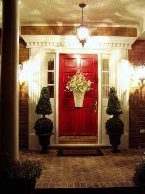 Susan's porch at night