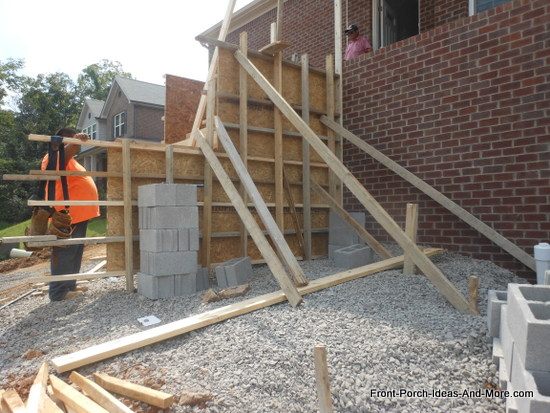 installing both horizontal and vertical bracing