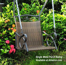 single porch swing chair with hanging chains by International Caravan