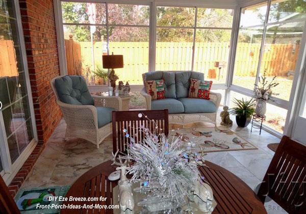 horizontal sliding Eze-Breeze screen porch windows on 3 season room