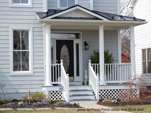 front porch with hip style roof design