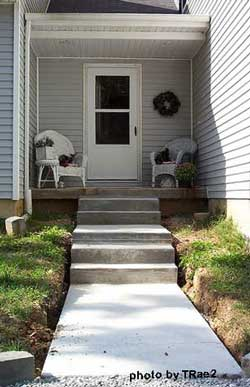 Sidewalk and steps completed