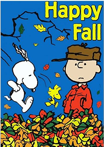 Snoopy and Charlie Brown welcome Fall