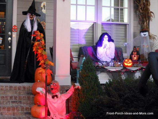 scary halloween decorations - haunted porch
