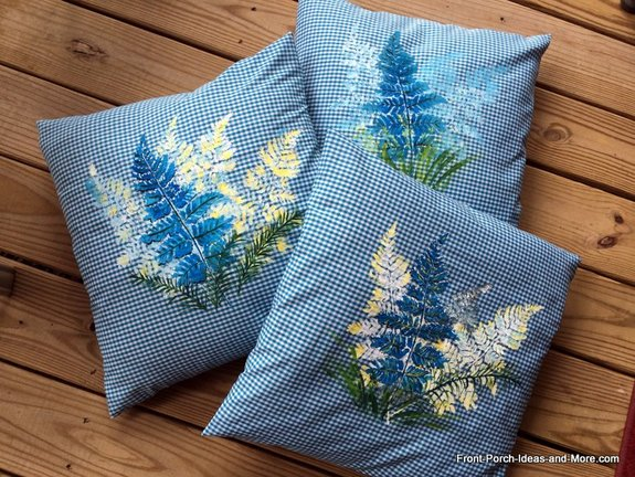 Summer pillow toppers at Front Porch Ideas and More