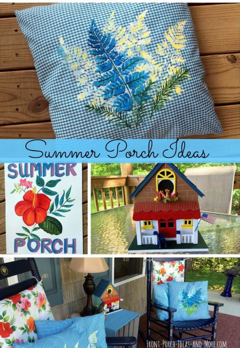 Summer front porch decorating ideas at Front Porch Ideas and More
