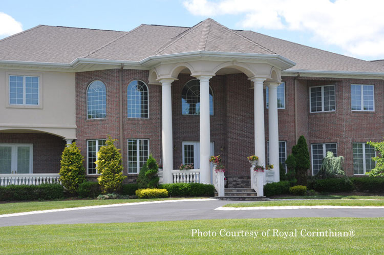 Royal Corinthian® synthetic stone tuscan columns on front porch