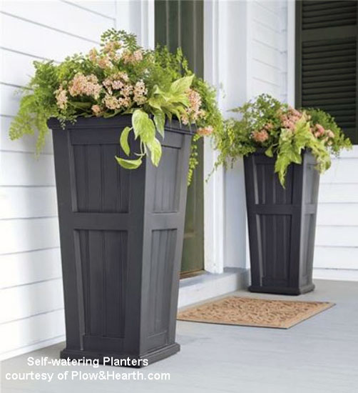 bold porch planters from Plow and Hearth