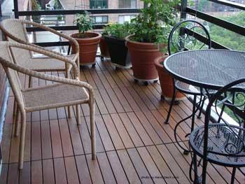 deck tiles installed on terrace