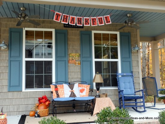 thankful banner shown on our front porch
