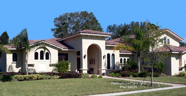 a more traditional executive southwestern home Plan 64693