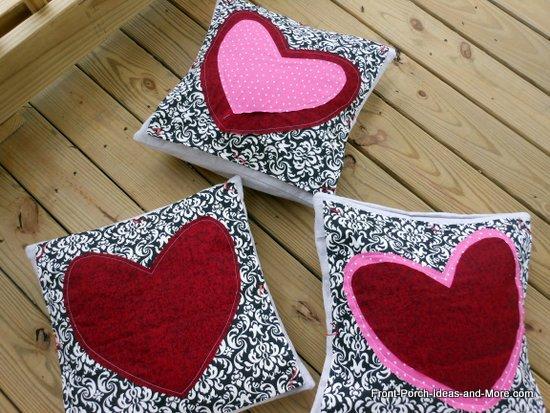 3 Valentine pillows