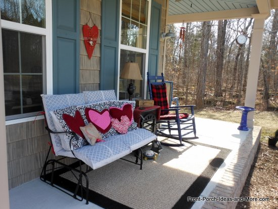 Our Valentine porch is ready