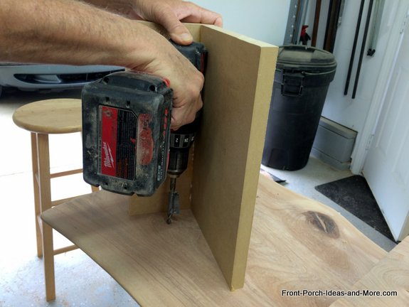 drilling holes in seat for dowels