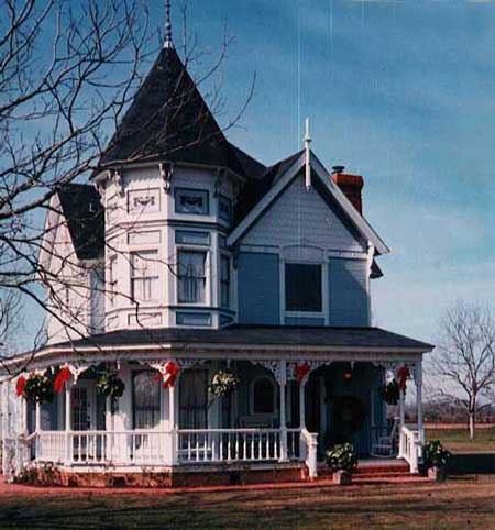 Victorian decorated for Christmas