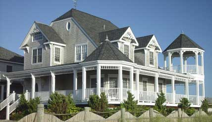 Victorian style house with fancy shingles