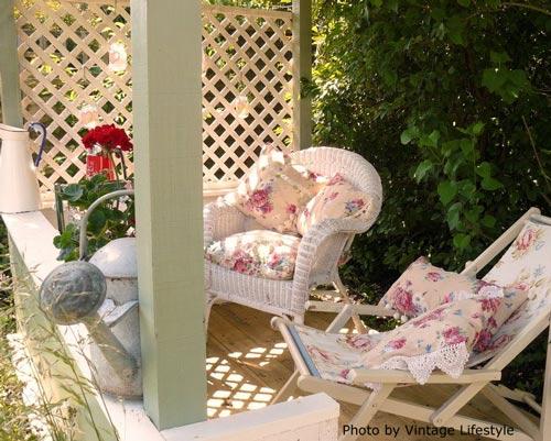 Vintage porch in UK
