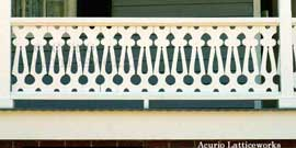 Vinyl Porch Railing Panel