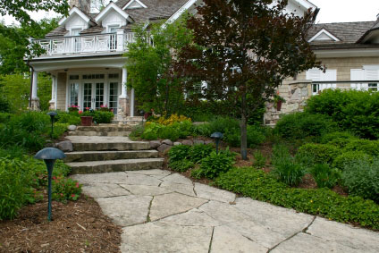 sophisticated stone walk way