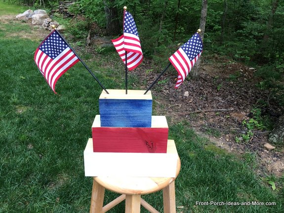 Our Memorial Day Tribute Project is completed except for the lettering on the wood blocks