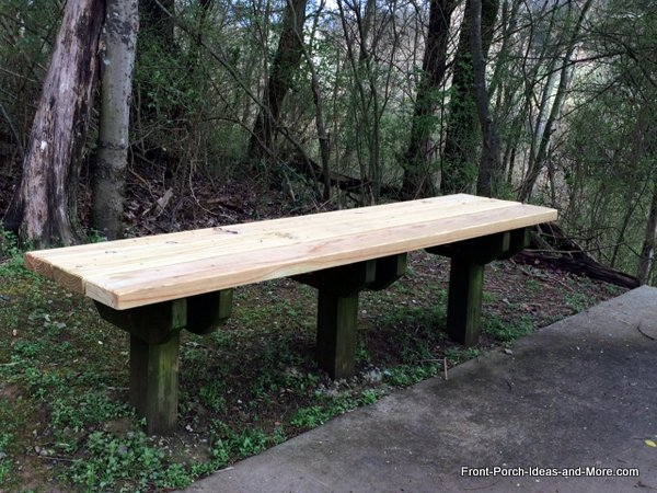 treated wood for base of garden bench