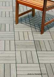 Composite deck tiles-woodsmoke
