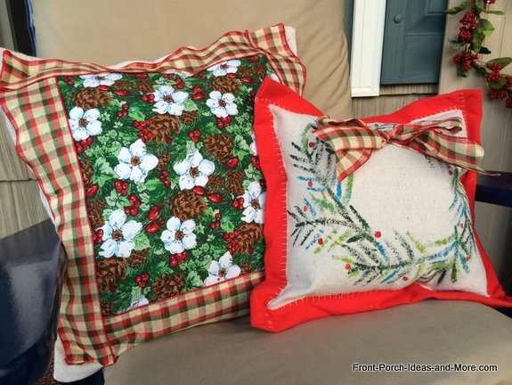 Our Christmas pillow toppers are super easy to make